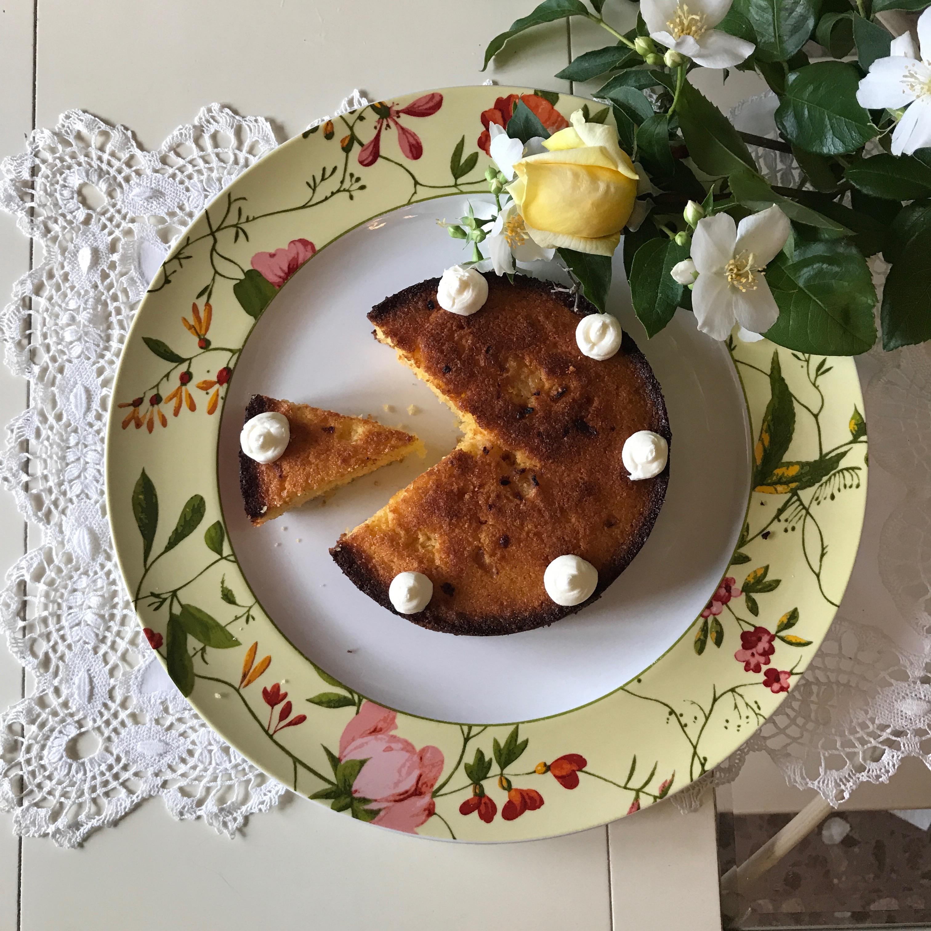 tarta polenta y limón